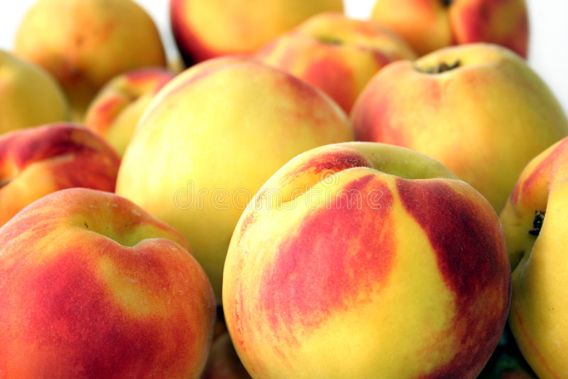 peaches fruits stock photos