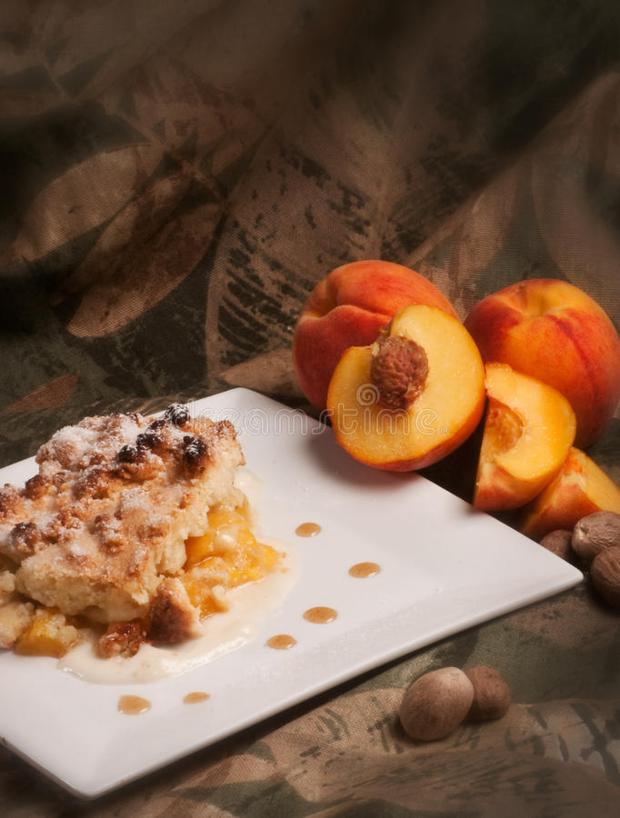 Download Peaches genoise stock photo. Image of peach, meal, dessert - 33352696