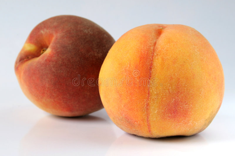 Peaches Isolated Stock Images