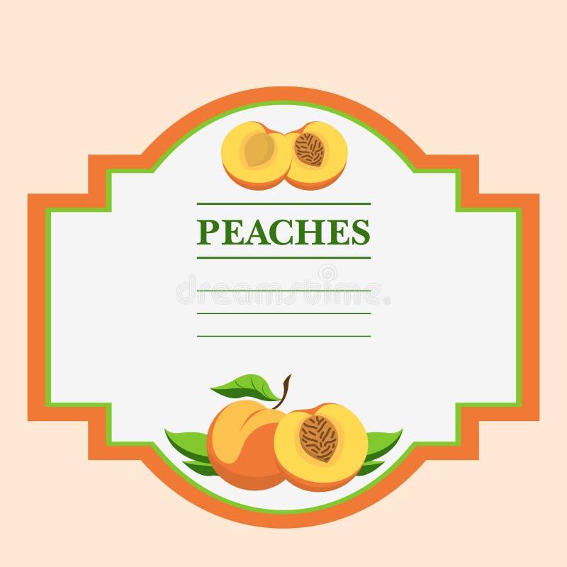 Peaches stock illustration