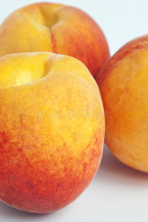 Peaches With Selective Focus Stock Photos