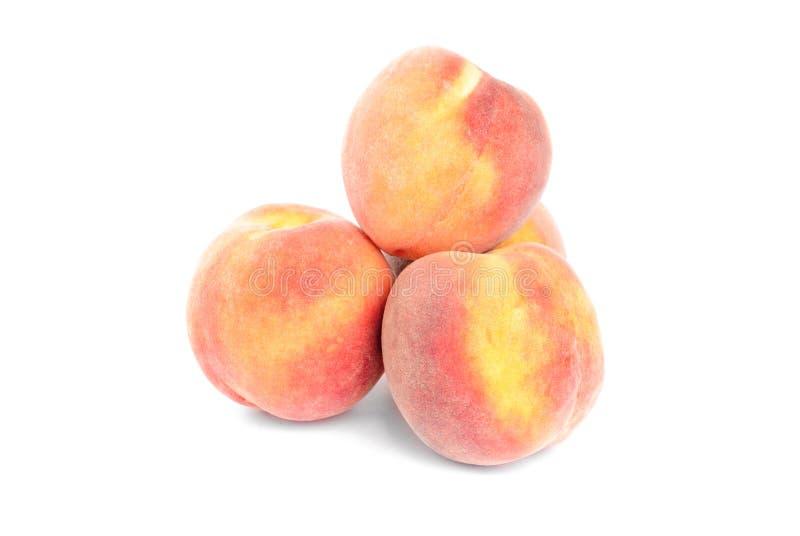 Peaches on a white royalty free stock photo
