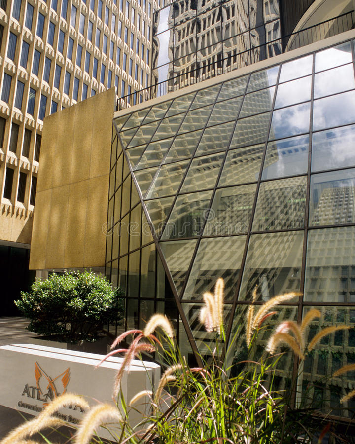 Peachtree Mittelmall in Atlanta stockfoto