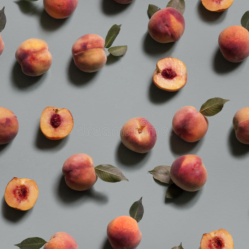 Peachy bakgrund seamless modell royaltyfri fotografi