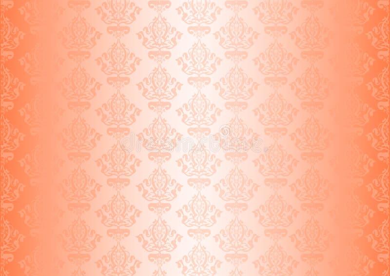 Peachy behang royalty-vrije illustratie