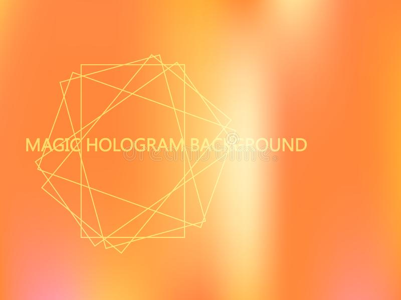 Peachy hologrammall royaltyfri illustrationer
