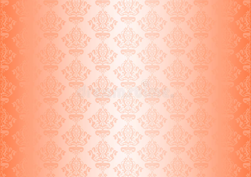 Peachy wallpaper royalty free illustration