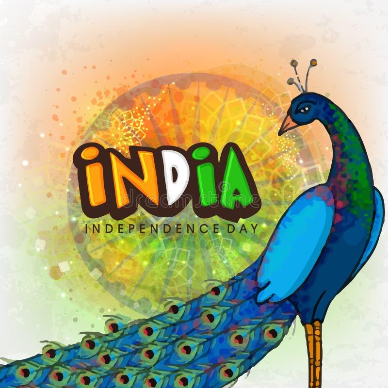 Peacock για την ινδική ημέρα της ανεξαρτησίας απεικόνιση αποθεμάτων