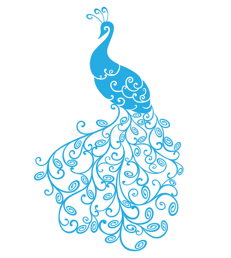 Peacock τυποποιημένο απεικόνιση αποθεμάτων