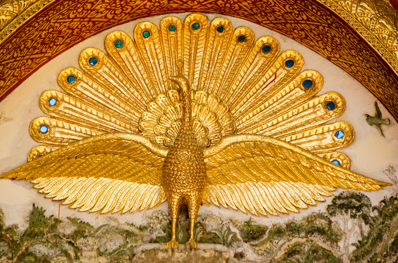 Download Peacock  Detail, Buddhist Temple Stock Image - Image: 28726061