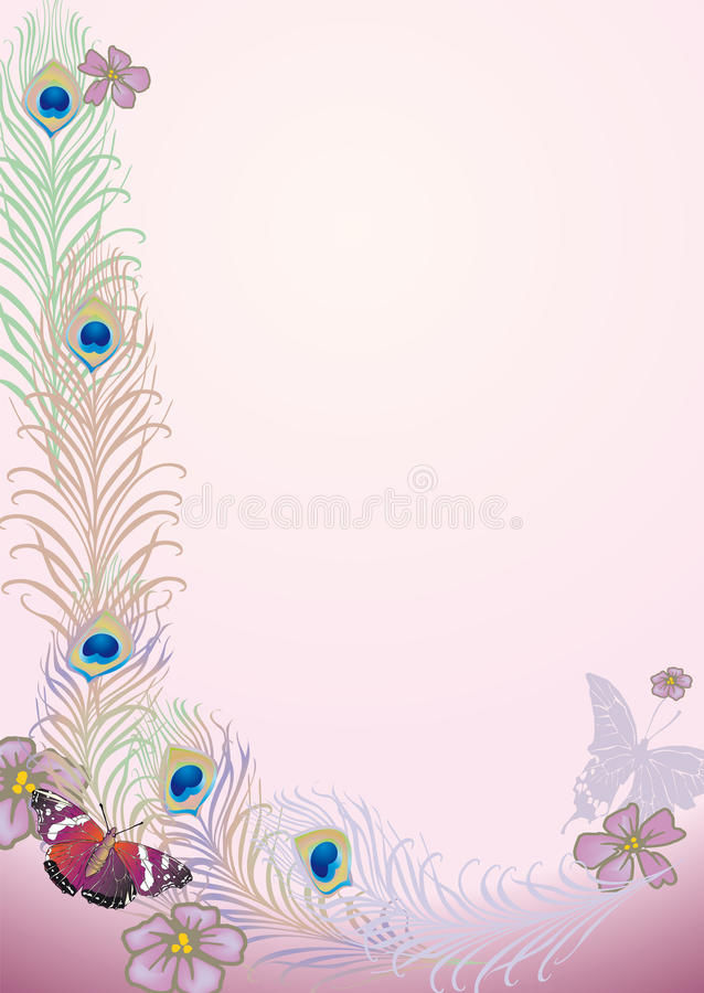 Download Peacock feathers stock illustration. Image of plant, design - 12560833