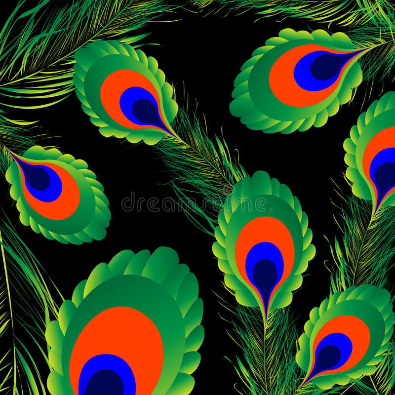 Download Peacock feathers stock vector. Image of green, beautiful - 16580356