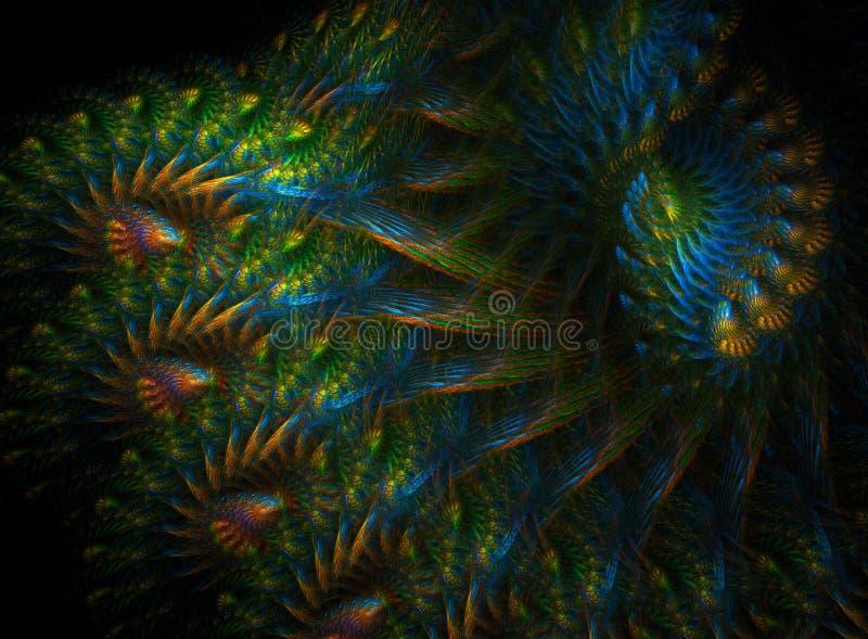 Peacock feathers stock illustration