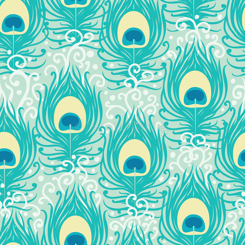 Download Peacock Feathers Vector Seamless Pattern Stock Vector - Image: 31674577