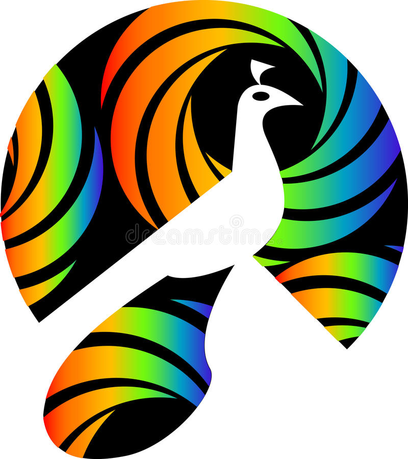 Peacock logo stock illustration