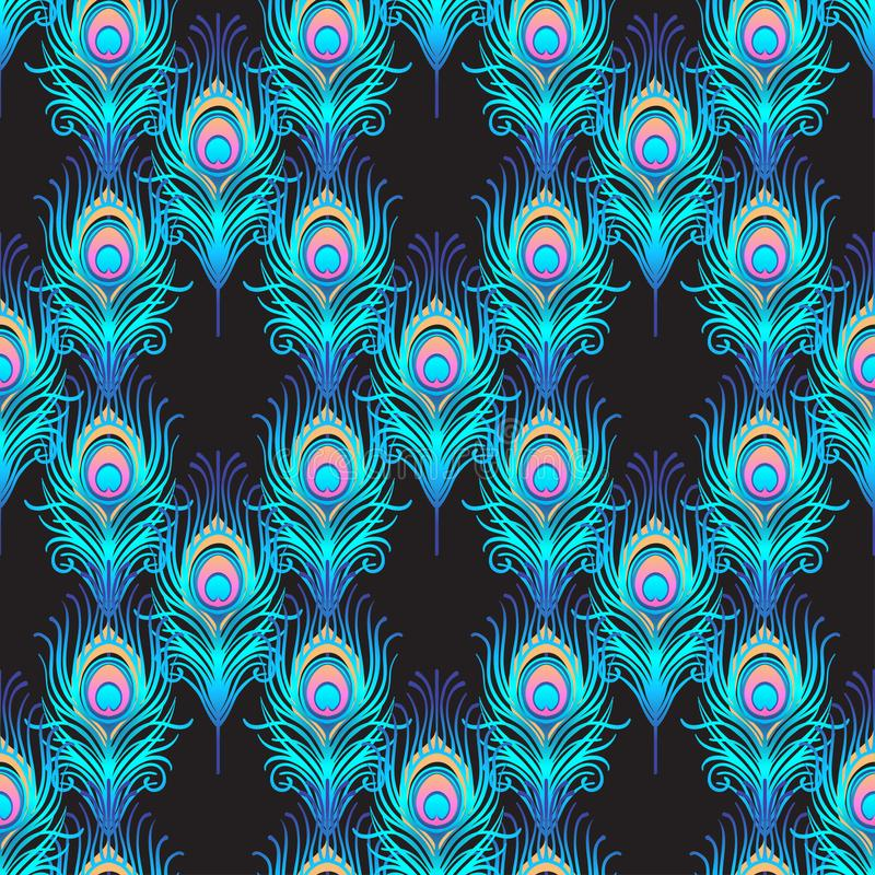 vector abstract peacock seamless - photo #4