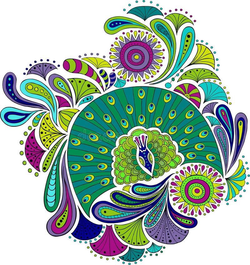 Download Peacock_pattern vektor illustrationer. Illustration av form - 27288632