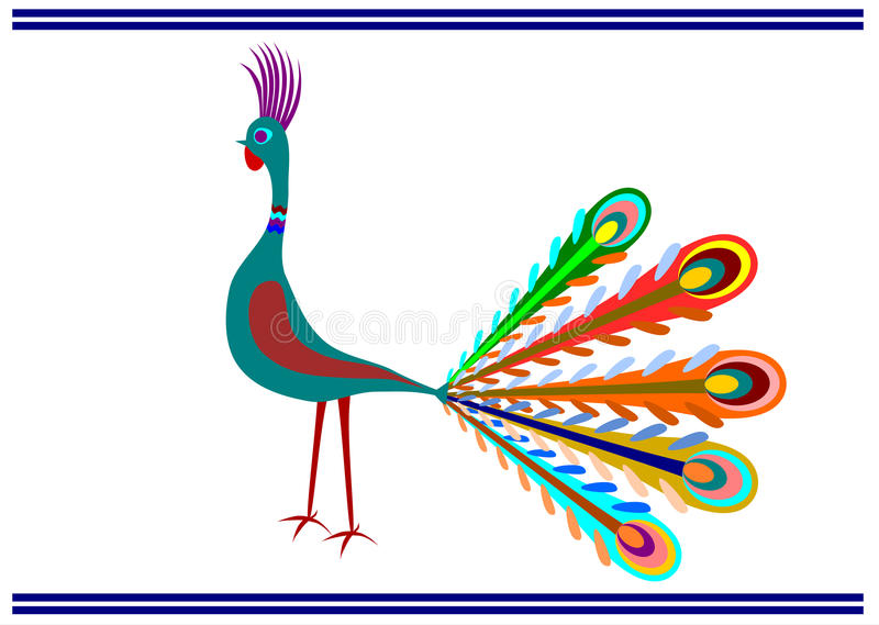 Download Folk peacock. stock vector. Illustration of india, mystery - 29733217