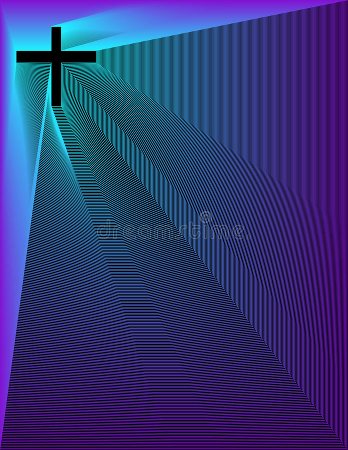 Peacock-Purp Cross Sm On B Royalty Free Stock Photos