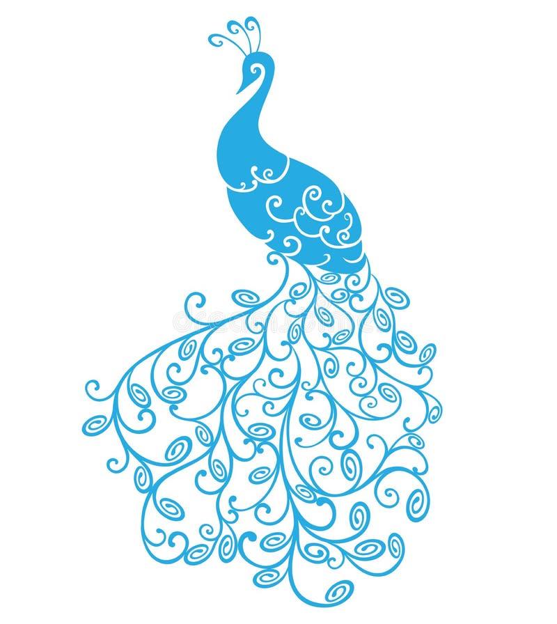 Peacock stylized stock illustration