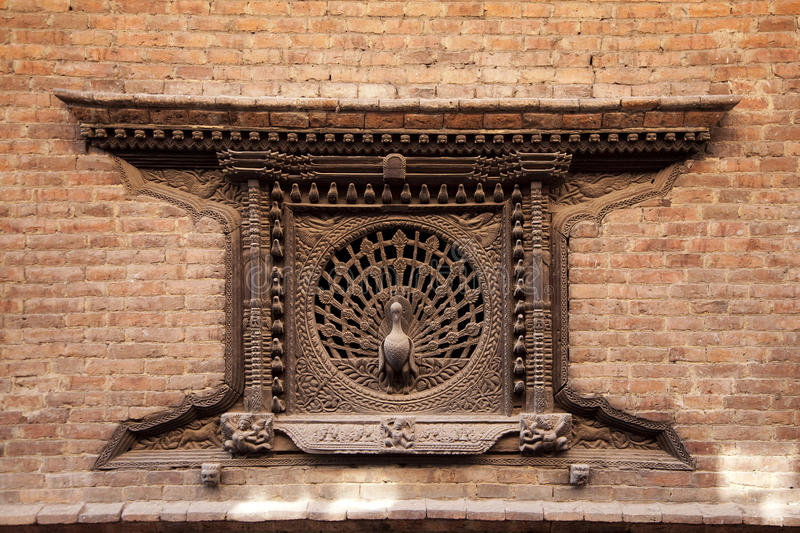 Peacock window, Nepal royalty free stock images
