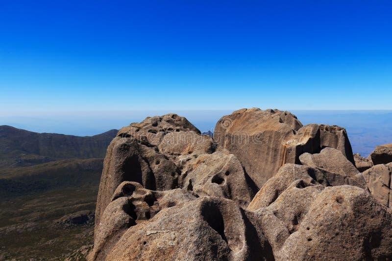 Peak Agulhas Negras (black needles) mountain, Brazil stock image