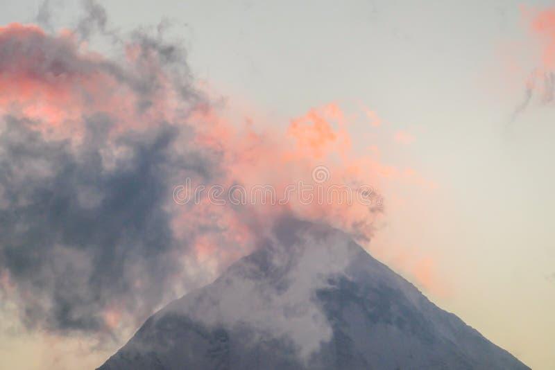 Nepal - Pink skies above Himalayan peaks royalty free stock photos