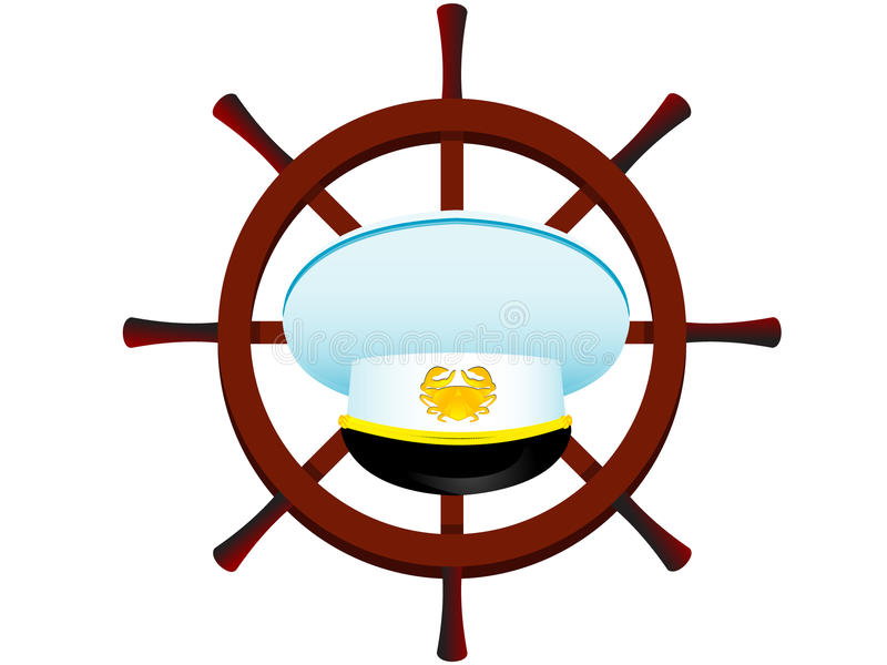 Download Peak-cap of the captain stock vector. Illustration of cocarde - 10958576