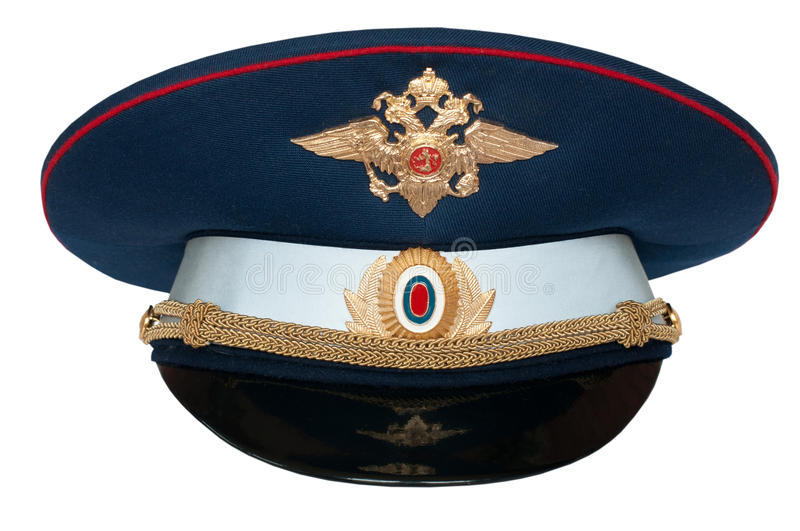 Peak-cap Of The Russian Officer Of Traffic Royalty Free Stock Photography