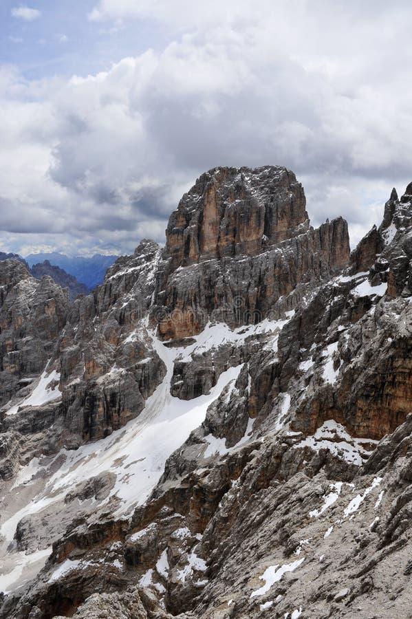 Download Peak Cristallo in Alps. stock photo. Image of cold, difficult - 21797240