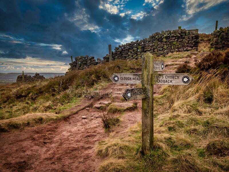 The Peak District, Staffordshire royalty free stock images