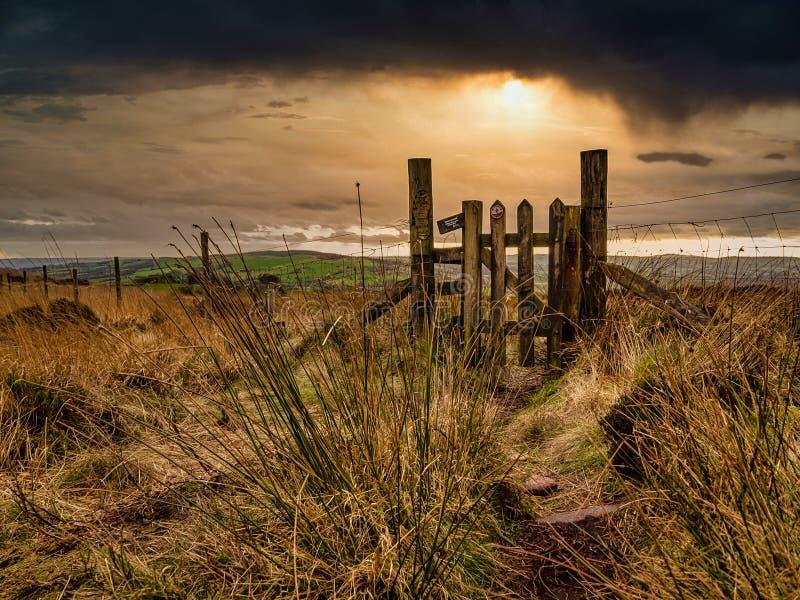 The Peak District, Staffordshire stock photos