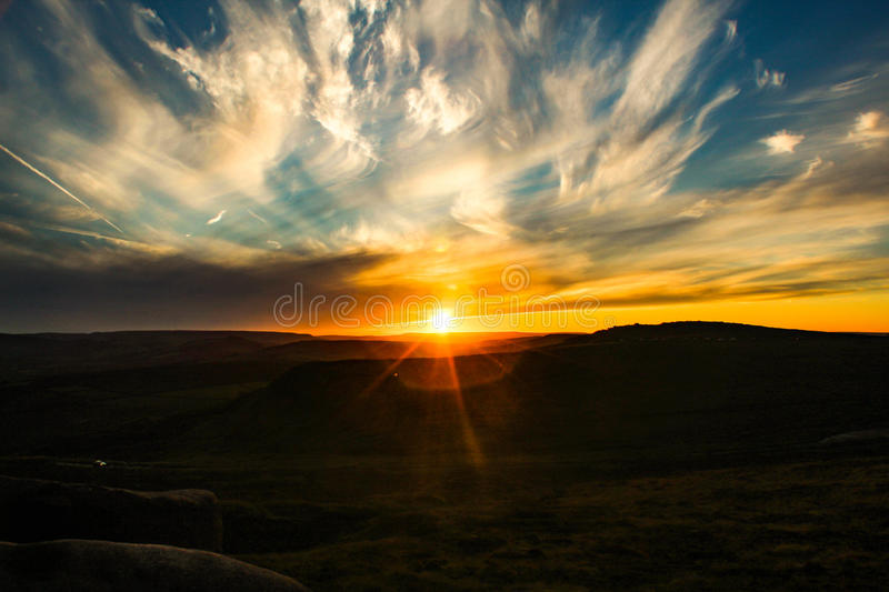 Peak District Sunset royalty free stock photography