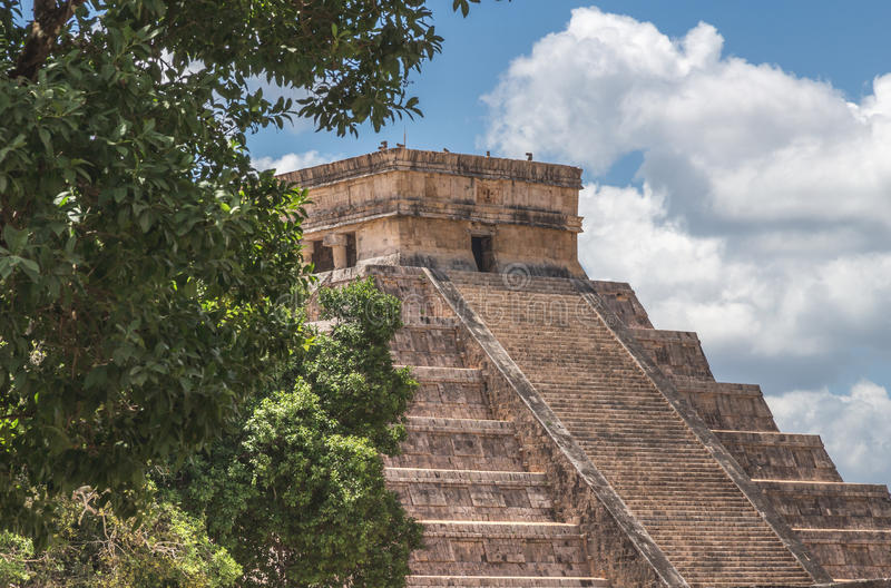 A Peak at El Castillo royalty free stock photo