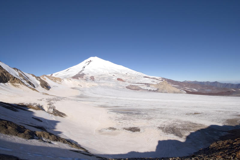 Peak Elbrus - Highest Point In Russia And Europe Royalty Free Stock Images
