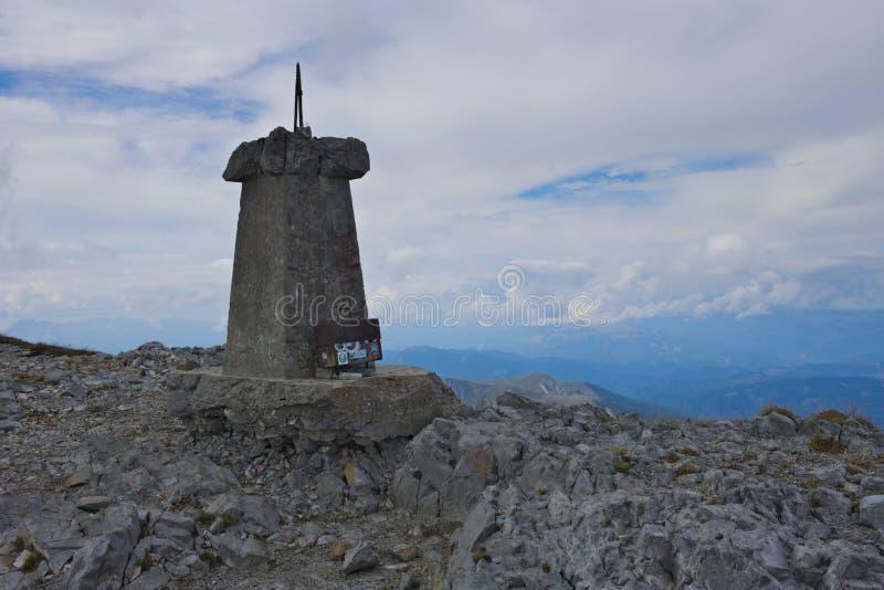The peak of the Kom Vasojevički mountain in the Komovi mountain range royalty free stock images