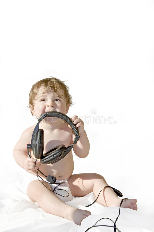 Download Peak listening time stock photo. Image of child, hand - 11195838