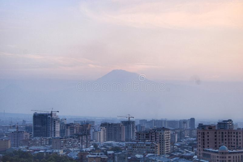 The peak of the mount Ararat stock photo