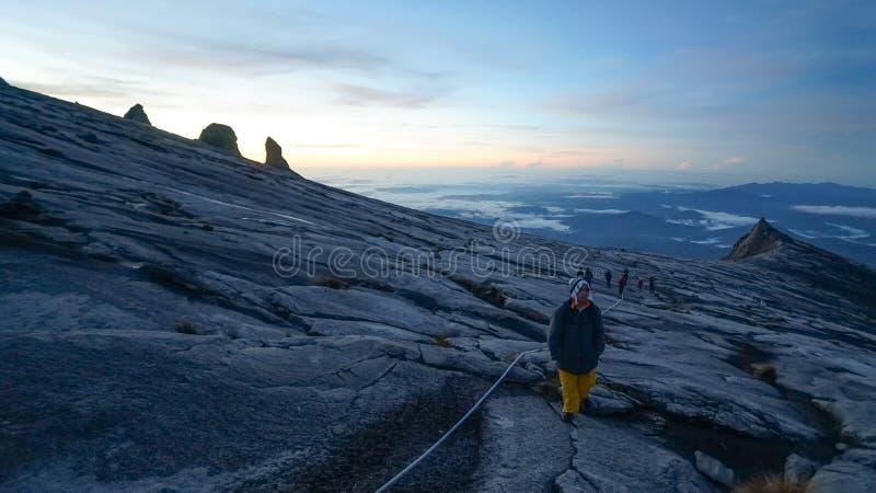 The peak of Mount Kinabalu stock photos