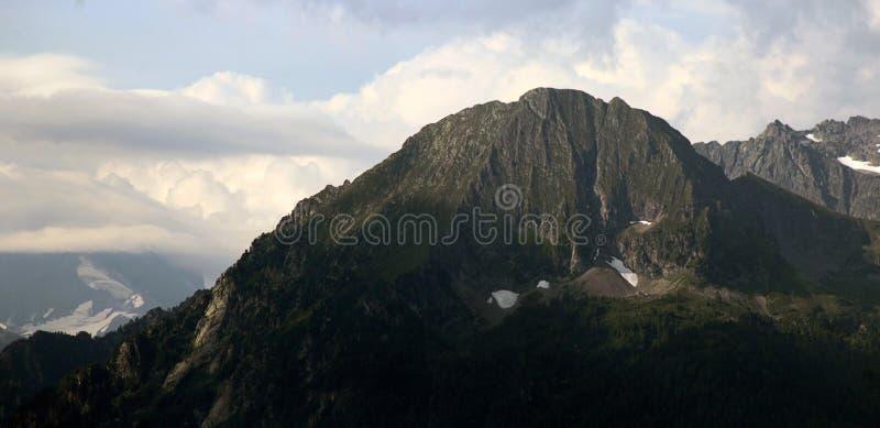 Mountain Peak. Peak of a mountain in summer royalty free stock image