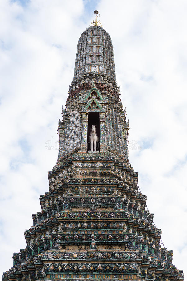 Peak. Of pagoda from Thailand royalty free stock image