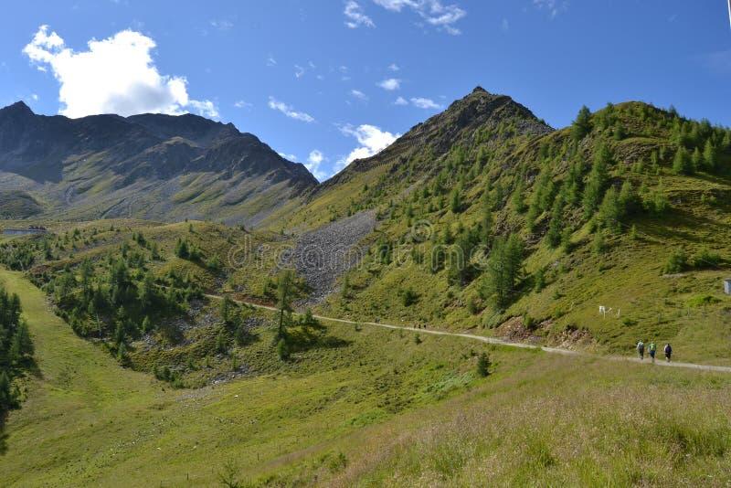 Peak of Rotenkogel in Alpine stock images