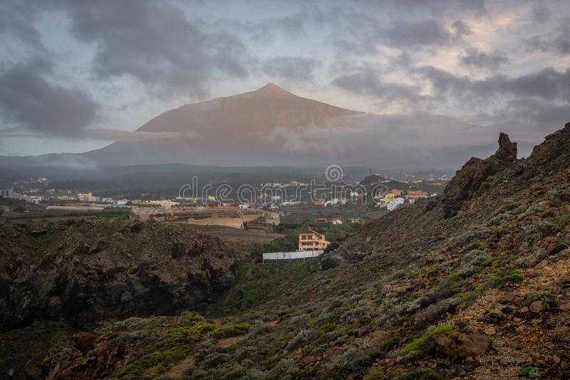 Peak of Teide volcano, Tenerife Island, Spain royalty free stock image