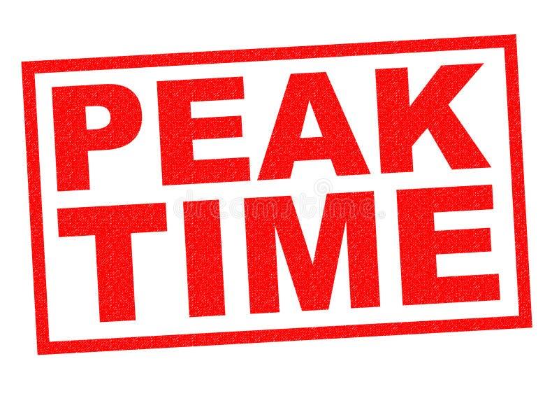 PEAK TIME vector illustration