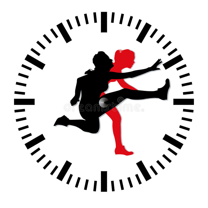 Download Peak time stress stock vector. Image of female, crisis - 16351022