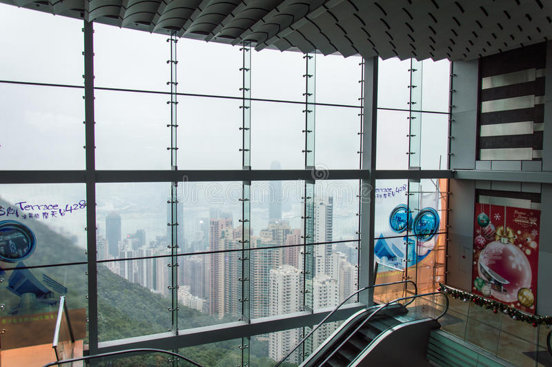 The Peak Tower in Hong Kong stock images