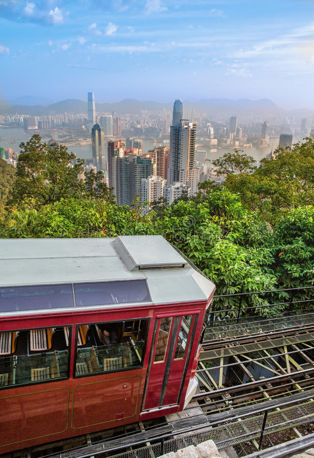 Peak tram Victoria Peak royalty free stock photography