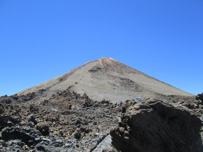 Peak of the volcano el Teide, Tenerife royalty free stock photo