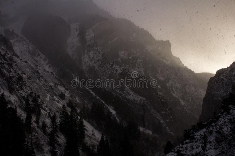 Peaks along the rock canyon trail in Provo, Utah royalty free stock photos