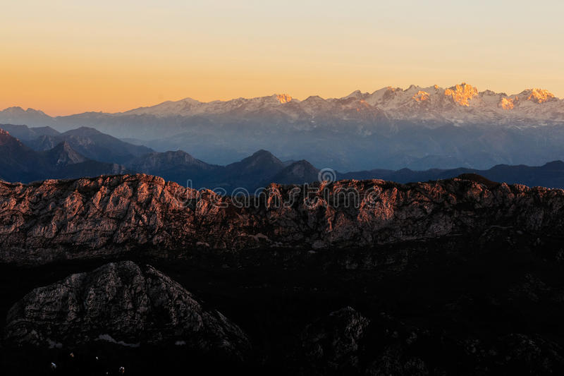 Peaks of Europe stock photography